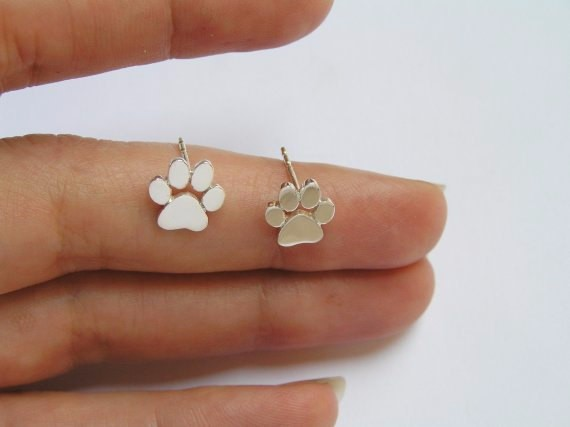Fashion Earrings For Girls - New Fashion Cute Cat Paw Earrings for Girls, Women - Gold, Silver, Rose Gold