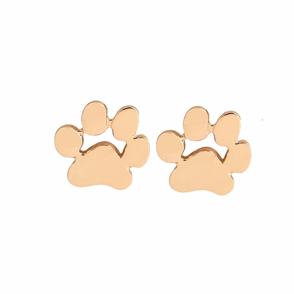 Fashion Earrings For Girls - New Fashion Cute Cat Paw Earrings for Girls, Women - Gold, Silver, Rose Gold