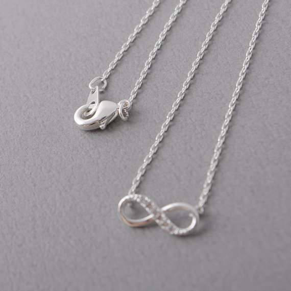 Necklace Design Infinity Love Crystal Necklace
