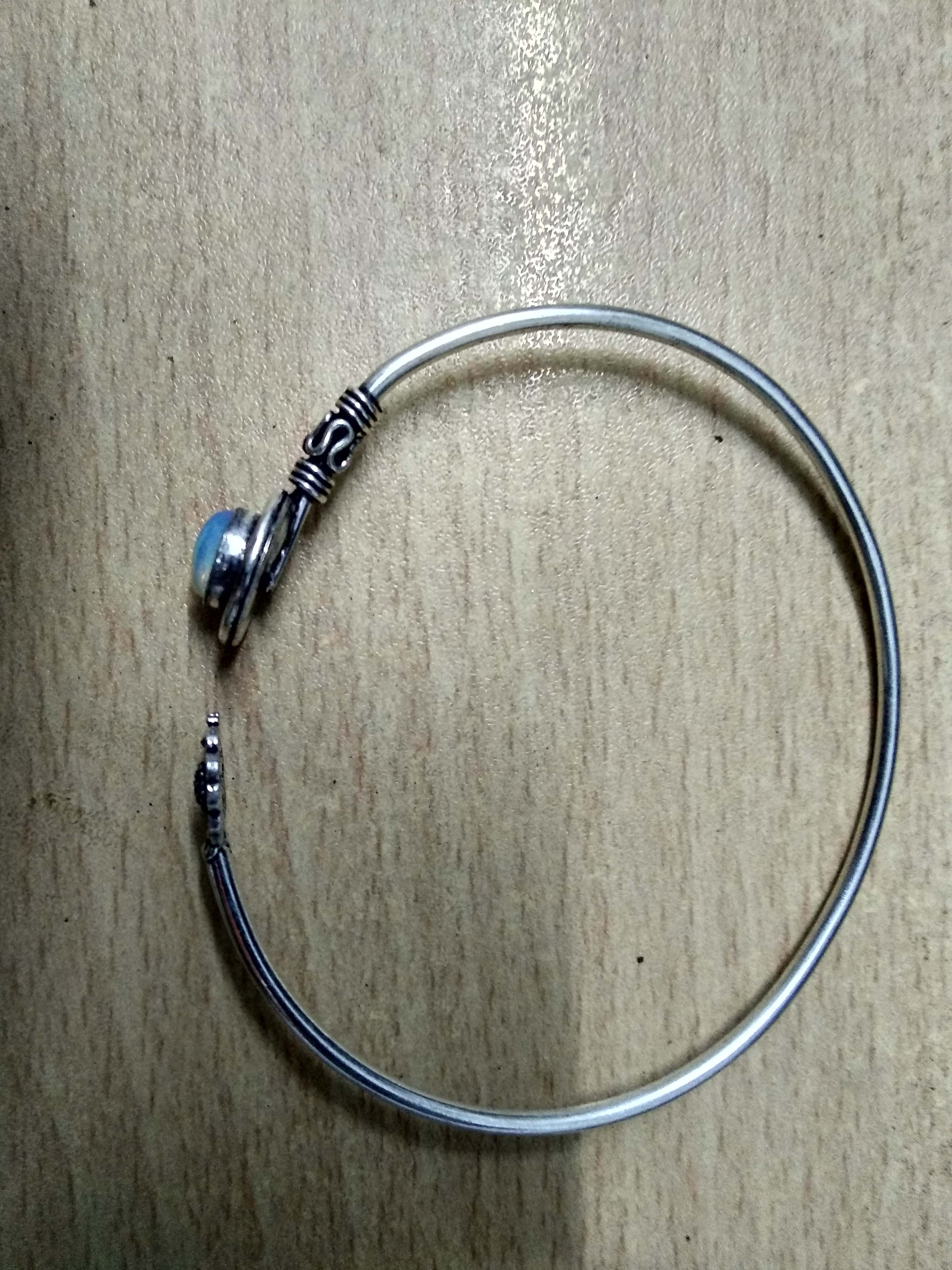Silver Bangles For Womens Beautiful Blue Stone