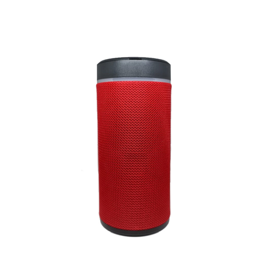 Bluetooth speaker with mobile holder red